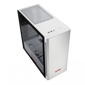 XPG Invader Mid-Tower Brushed Aluminum PC Case White