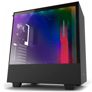 NZXT H500i Black/Red Steel Tempered Glass ATX Mid-Tower PC Casing CA-H500W-BR