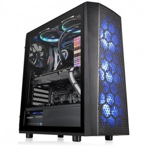 Thermaltake Versa J24 Tempered Glass RGB Edition Mid-Tower Chassis - CA-1L7-00M1WN-01