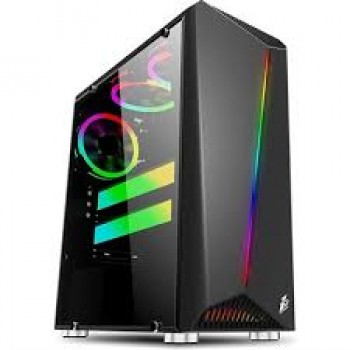 1st Player Rainbow R3 ATX Gaming Case Black with 3 Fans