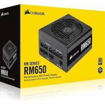 Corsair RM650 W Fully Modular Power Supply, 80+ Gold Certified