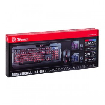 Tt eSPORTS Commander Multi Light Keyboard & Mouse Combo