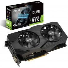 ASUS GeForce RTX 2060 Overclocked 6G GDDR6 Dual-Fan EVO Edition VR Ready HDMI DisplayPort DVI Graphics Card