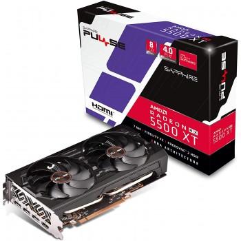 Sapphire Radeon PULSE RX 5500 XT 8GB GDDR6 HDMI / Triple DP OC w/ backplate (UEFI) PCIe 4.0 Graphics Card