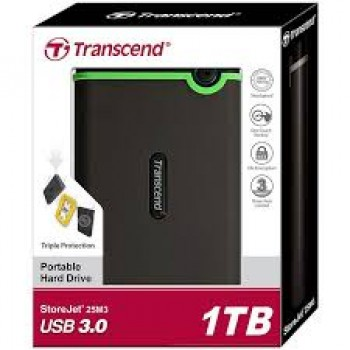 Transcend StoreJet® 25M3 1TB USB 3.0 Portable Hard Drive
