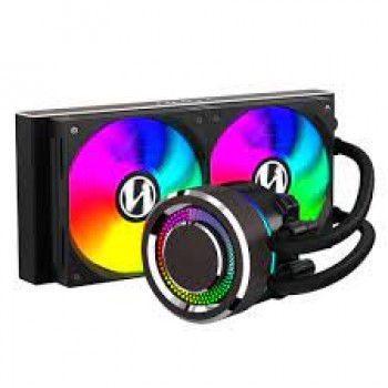 LIAN LI Galahad AIO240 RGB Black-Dual 120mm Addressable RGB Fans AIO CPU Liquid Cooler