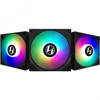 Lian Li ST120 Black 3 Pack, ARGB 120mm LED PWM, with Fan Controller