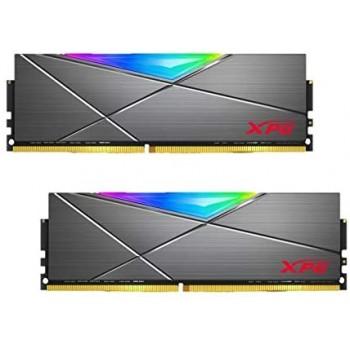 XPG SPECTRIX D50 RGB Gaming Memory: 16GB (2x8GB) DDR4 3200MHz CL16 Grey