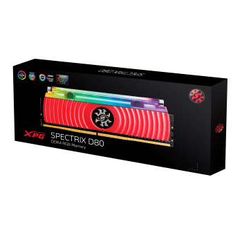 ADATA XPG Spectrix D80 Liquid-Cooled RGB DDR4 3200MHz 8GB Desktop Memory
