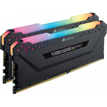 CORSAIR Vengeance RGB PRO 16GB (2x8GB) DDR4 3200MHz C16 LED Desktop Memory – Black