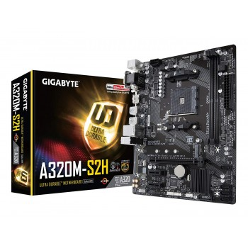 Gigabyte GA-A320M-S2H AMD Socket AM4 Motherboard