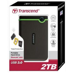 Transcend StoreJet® 25M3 2TB USB 3.0 Portable Hard Drive