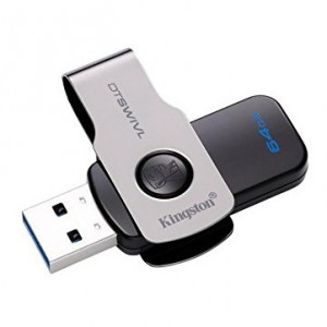 Kingston 64GB DataTraveler SWIVL USB 3.0 Flash Memory Stick Drive