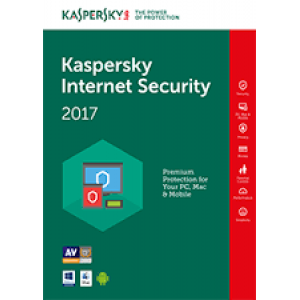 Kaspersky Internet Security 2017 (4 User , 1 Year)  (PC/Mac/Android)